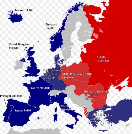 Strefa wpływów NATO / Rosja